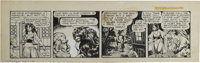 Matt Baker - Flamingo Daily Comic Strip Original Art, undated (Phoenix Features, circa 1953). Matt Baker's ability at dr...
