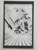 Original Comic Art:Splash Pages, Mike Hawthorne and Rick Remender - Terminator 3 #4 pages 5, 38, and42 Original Art (Beckett, 2003). That darn Terminatrix j... (Total:3 Original Art Item)