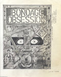Original Comic Art:Covers, Tom Sutton - Bondage Obsession Cover Original Art (1995). TomSutton drew this image in ink and pencil on vellum. The image ...