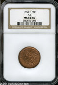 Half Cents: , 1857 MS64 Red NGC C-1. The current Coin Dealer ...