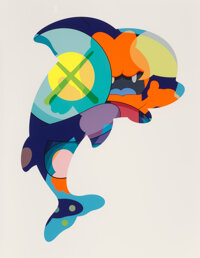 KAWS (b. 1974) Piranhas When You're Sleeping, 2016 Silkscreen in colors on paper 60 x 46 inches (