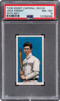 Baseball Cards:Singles (Pre-1930), 1909-11 T206 Sweet Caporal 350/30 Jack Knight (With Bat) PSA NM-MT 8 - Pop Two, None Higher With This Brand/Series/Factory Com...