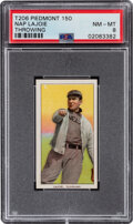 Baseball Cards:Singles (Pre-1930), 1909-11 T206 Piedmont 150 Napoleon Lajoie (Throwing) PSA NM-MT 8 - Pop Four, Only Two Higher With This Brand & Series. ...