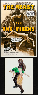 The Beast and the Vixens & Other Lot (Sophisticated Films, 1974). Very Fine+. Uncut Pressbooks (2) (Multiple Pages...