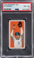 Baseball Cards:Singles (Pre-1930), 1909-11 T206 Piedmont 350 Ed Lennox PSA NM-MT 8 - Only One Higher With This Brand & Series. ...