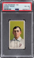 Baseball Cards:Singles (Pre-1930), 1909-11 T206 Piedmont 150 Sherry Magee (Portrait-MAGIE) PSA VG-EX 4- The Hobby's Most Famous Typo! ...