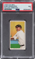 Baseball Cards:Singles (Pre-1930), 1909-11 T206 Old Mill Rube Marquard (Follow Through) PSA NM 7 - Pop One, One Higher With This Brand. ...