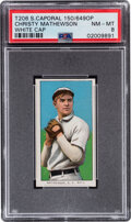 Baseball Cards:Singles (Pre-1930), 1909-11 T206 Sweet Caporal 150/649OP Christy Mathewson (White Cap) PSA NM-MT 8 - Pop Two, One Higher With This Brand/Series/Fa...