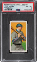 Baseball Cards:Singles (Pre-1930), 1909-11 T206 Sweet Caporal 350/30 Dots Miller PSA NM-MT 8 - Pop Two, None Higher With This Brand/Series/Factory Combination. ...