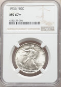 1936 50C MS67+ NGC. NGC Census: (110/14 and 16/0+). PCGS Population: (190/4 and 33/0+). CDN: $625 Whsle. Bid for NGC/PCG...