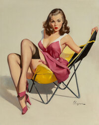 Gil Elvgren (American, 1914-1980) Low Down Feelings, circa 1955 Oil on canvas 30 x 24 inches (76