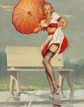 Paintings, Gil Elvgren (American, 1914-1980). I've Been Spotted, 1949. Oil on canvas. 30 x 24 inches (76.2 x 61.0 cm). Signed lower...