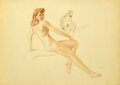 Works on Paper, Alberto Vargas (Peruvian/American, 1896-1982). The Cockatoo study. Watercolor on vellum. 21 x 30 inches (53.3 x 76.2 cm)...