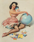 Paintings, Gil Elvgren (American, 1914-1980). Out of This World, 1959. Oil on canvas. 30 x 24 inches (76.2 x 61.0 cm). Signed lower...