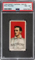 Baseball Cards:Singles (Pre-1930), 1909-11 T206 Sweet Caporal 350/25 Phil Poland PSA NM-MT 8 - Pop One, None Higher With This Brand/Series/Factory Combination. ...
