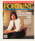 "Autographs:Inventors, Steve Jobs ""Fortune"" Magazine Cover Signed ..."