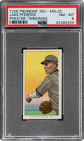 Baseball Cards:Singles (Pre-1930), 1909-11 T206 Piedmont 350-460/25 Jake Pfiester (sic Pfeister-Throwing) PSA NM-MT 8 - Pop One, None Higher With This Brand/Seri...