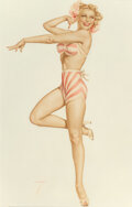 Paintings, Alberto Vargas (Peruvian/American, 1896-1982). Blonde Pirouetting, 1948. Watercolor and gouache on board. 28-1/2 x 20 in...
