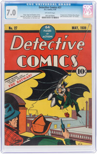 Detective Comics #27 (DC, 1939) CGC FN/VF 7.0 Off-white pages