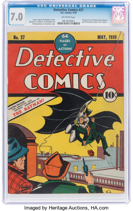 Detective Comics #27 (DC, 1939) CGC FN/VF 7.0 Off-white pages....