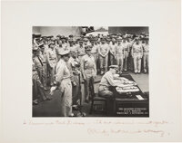 Admiral Chester Nimitz Photograph Inscribed and Signed