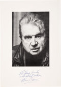 Autographs:Artists, Francis Bacon Book Page Inscribed and Signed ...