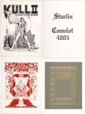 Memorabilia:Comic-Related, Jim Starlin Camelot 4005 and Others Limited Edition Portfolios Group of 4 (Various Publishers, c. 1970s)... (Total: 4 Items)