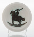 Sculpture, Pablo Picasso (1881-1973). Picador, 1952. Terre de faïence ashtray, painted and partially glazed. 6-1/4 inches (15.9 cm)...