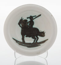 Pablo Picasso (1881-1973) Picador, 1952 Terre de faïence ashtray, painted and partially glazed 6-