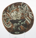 Sculpture, Pablo Picasso (1881-1973). Vase au bouquet, 1956. Terre de faïence plate, painted and partially glazed. 9-1/2 x 9-3/4 in...