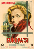 "Movie Posters:Foreign, Europa '51 (Lux Film, 1952). Fine/Very Fine on Linen. Italian 2 - Fogli (38.5"" X 54.5"") Alternate U.S. Title: The ..."