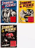 Pulps:Science Fiction, Stirring Science Stories Group of 3 (Albing Publications, 1941) Condition: Average VG.... (Total: 3 Items)
