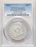 Bust Half Dollars: , 1832 50C Small Letters -- Cleaning -- PCGS Genuine. XF Details. Mintage 4,797,000. ...
