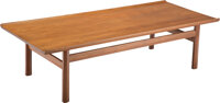 Ejner Larsen (Danish, 1917-1987) and Aksel Bender Madsen (Danish, 1916-2000) Low Table, circa 1955 Teak 18-1/2 x 69-1