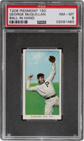 Baseball Cards:Singles (Pre-1930), 1909-11 T206 Piedmont 150 George McQuillan (Ball In Hand) PSA NM-MT 8 - Pop Three, None Higher With This Brand & Series. ...