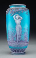 Glass, George Woodall for Thomas Webb & Sons Tricolor Cameo Glass Vase: Cloches, circa 1890. Marks: THOMAS WEBB & SONS, G...