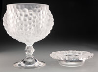 Two Lalique Clear and Frosted Glass Bowls, post-1945 Marks: Lalique, France 11-1/2 inches (29.2 cm)