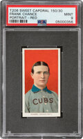 Baseball Cards:Singles (Pre-1930), 1909-11 T206 Sweet Caporal 150/30 Frank Chance (Portrait-Red) PSA Mint 9 - Pop One, None Higher With This Brand/Series/Factory...