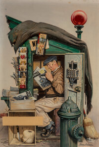 Stevan Dohanos (American, 1907-1994) Great Stories from the Saturday Evening Post paperback cover, 1947