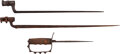 Edged Weapons:Bayonets, Lot of Two Socket Bayonets and Relic WWI Knuckle Knife...