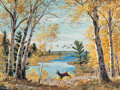 Paintings, William Medcalf (American, 1920-2005). Along the North Shore. Oil on board. 30 x 40 inches (76.2 x 101.6 cm). Signed low...
