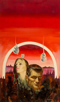 Jack Faragasso (American, b. 1929) The Star Witches paperback cover, 1969 Oil on board with collage<