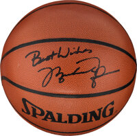 1990's Michael Jordan Single Signed Basketball from the Robert C. Scarpetti Collection