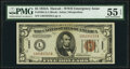 Small Size:World War II Emergency Notes, Fr. 2302 $5 1934A Hawaii Federal Reserve Note. PMG About Uncirculated 55 EPQ.. ...