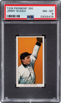 Baseball Cards:Singles (Pre-1930), 1909-11 T206 Piedmont 350 Jimmy Slagle PSA NM-MT 8 - Only One Higher With This Brand & Series. ...
