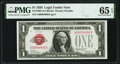 Small Size:Legal Tender Notes, Low Serial Number 4806 Fr. 1500 $1 1928 Legal Tender Note. PMG Gem Uncirculated 65 EPQ.. ...