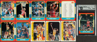 1986 Fleer Basketball Complete Set (132) Plus Stickers (10/11)