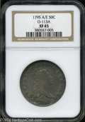 Early Half Dollars: , 1795 2 Leaves XF45 NGC. ...