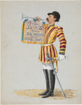 Books:Color-Plate Books, Surgeon Major F. E. Scanlan. A to Z, Being Twenty-six Notes on a Soldier's Trumpet - Original Illustrations Togeth...