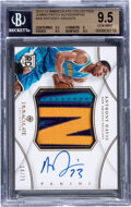 Basketball Cards:Singles (1980-Now), 2012-13 Immaculate Collection Anthony Davis (Jumbo Patch Auto) #AB BGS Gem Mint 9.5 - #'d 14/75....